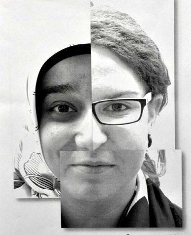 Ein Gesicht setzt sich aus vielen verschiedenen zusammen.
