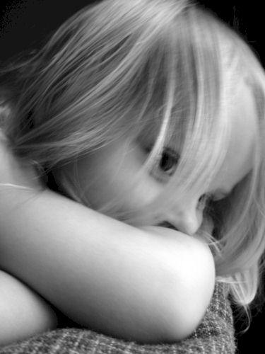 Trauriges Mädchen.