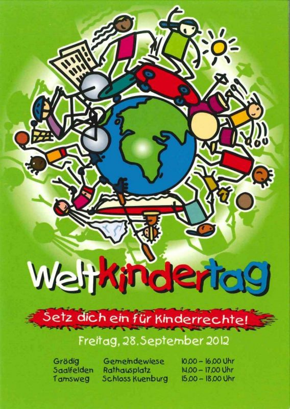 Weltkindertagsplakat.