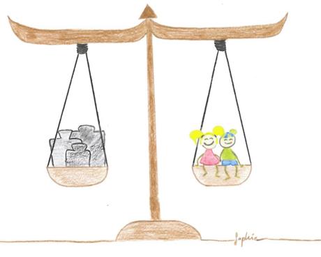 Kinderrechte-Waage