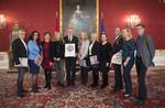 Die zehn österreichischen Kinder- und JugendanwältInnen bei Bundespräsident Alexander Van der Bellen.