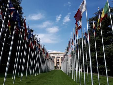 Fahnen der UNO-Staaten in Genf