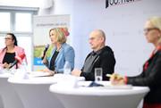 Foto von der Präsentation der neuen Studie zum Thema Gewalt und Mobbing.