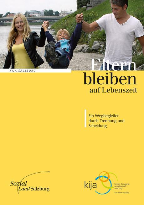 """Cover der Broschüre """"Eltern bleiben auf Lebenszeit"""""""