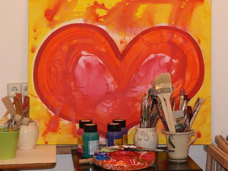 Bild aus dem Atelier.