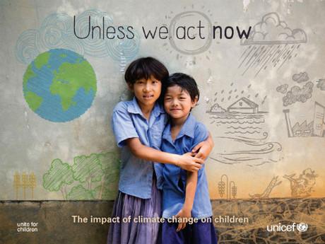 Die Kinder wird der Klimawandel besonders hart treffen.