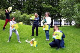 Das Projektteam im Park