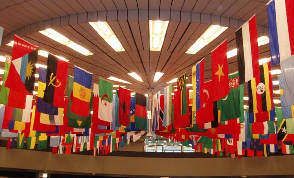Viele verschiedene Flaggen.