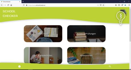 Abbildung der neuen Website des Schoolcheckers