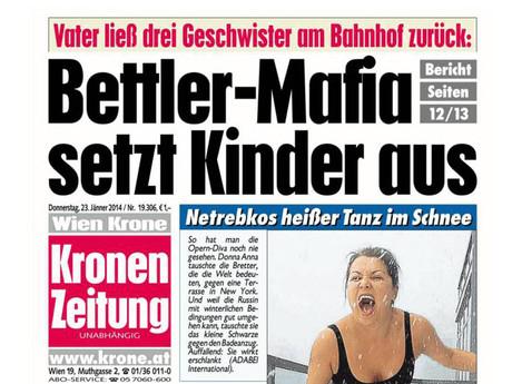 Schlagzeile der Kronenzeitung