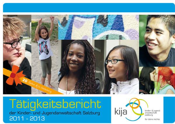 Cover des aktuellen kija-Tätigkeitsberichts.