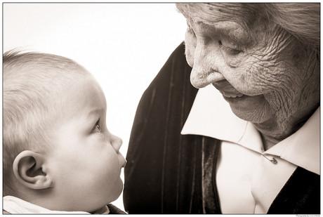 Großmutter und Kind
