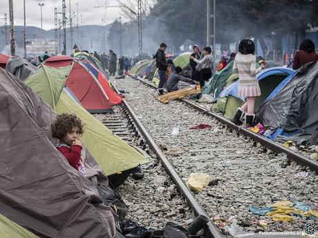Kinder im Flüchtlingslager Idomeni