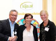 LR Heinrich Schellhorn (Soziales, Salzburg), Salzburger Kinder- und Jugendanwältin Andrea Holz-Dahrenstaedt, Liedewij de Ruijter de Wildt (Verein NIDOS, NL)