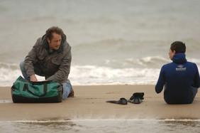 Szene aus dem Film: Bilal möchte den Ärmelkanal durchschwimmen.
