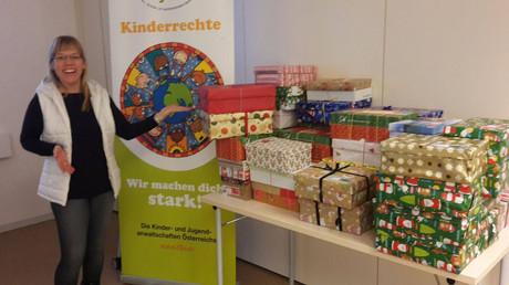 Weihnachtsgeschene für bedürftigte Kinder