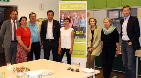 Bild: Die ehrenamtlichen AnwältInnen zu Besuch in der kija Salzburg