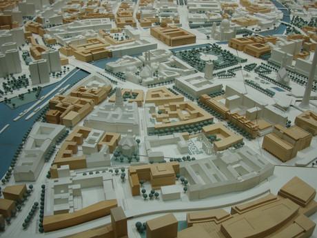 Bild eines Modells einer Stadt.