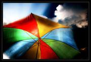 Bunter Schirm