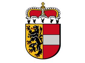 Das Wappen des Bundeslandes Salzburg.