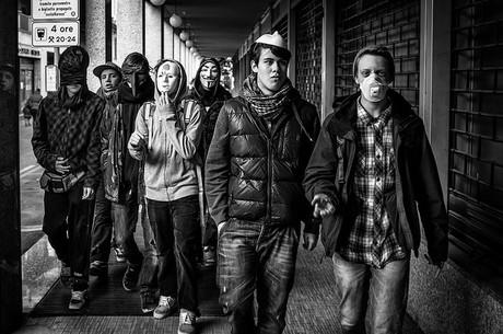 Jugendliche Gang