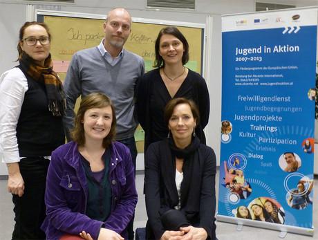 v. li.: Angela Riegler, Stefan Wally, Hilla Lindhuber, Julia Frauenberger, Andrea Holz-Dahrenstaedt.