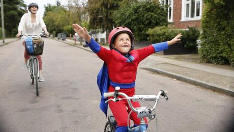 Villads beim Radfahren