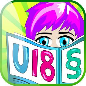 """Icon der App""""Deine Rechte U 18""""."""