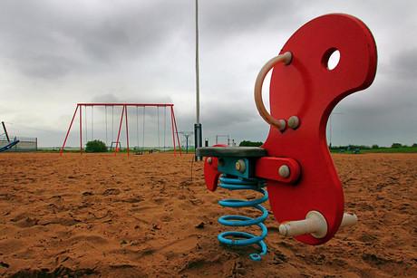 Foto eines leeren Spielplatzes