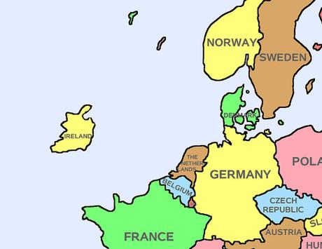Europakarte nach dem Brexit