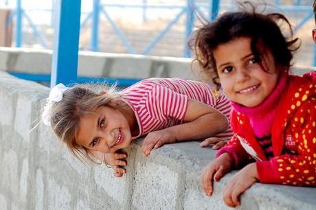 Zwei irakischea Mädchen