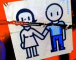 Kinderzeichnung von einem Elternpaar.