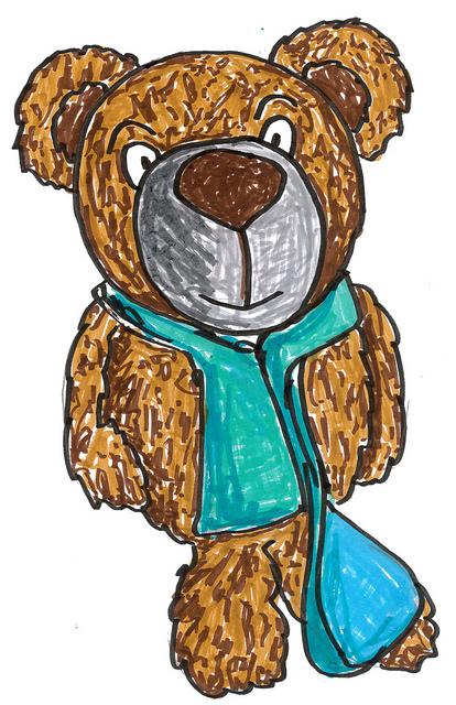 Teddybär unterwegs